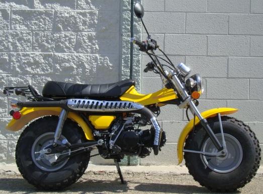 123cc full size street legal motor bike