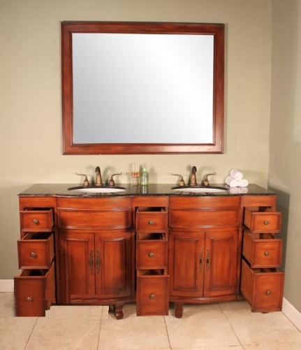 High Quality 73 Traditional Double Bathroom Vanity