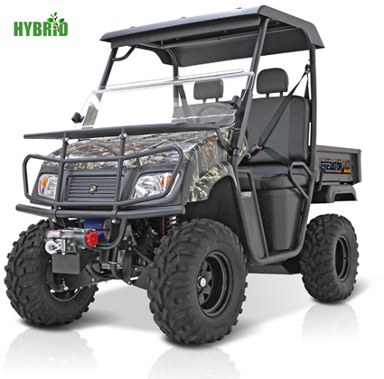 The Landmaster 650 Predator 4wd Hybrid Utility Vehicle Utv Is A 4 Wheel Drive Gas And Electric That S Perfect For Off Roading Hunting
