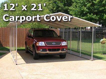 12u0027 x 21u0027 Steel Carport Cover Garage w/ Boxed Eaves - Installation Included ... & Portable Garage Storage Tents Metal Carport Steel Carport ...