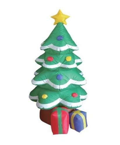 ft Inflatable Decorated Christmas Tree with Gifts Lawn Decoration
