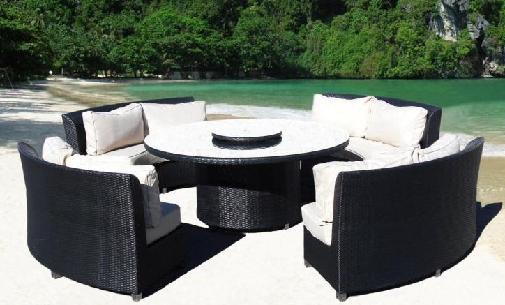 round rattan patio dining sets
