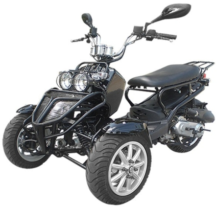 150cc three wheel ruckus style trike scooter moped for Motor scooter 3 wheels
