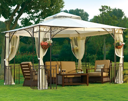 High quality 10 39 x 12 39 outdoor gazebo with mosquito netting - Insect netting for gazebo ...