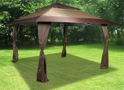 & High Quality 13u0027 x 13u0027 Brown Easy Pop Up Tent / Gazebo