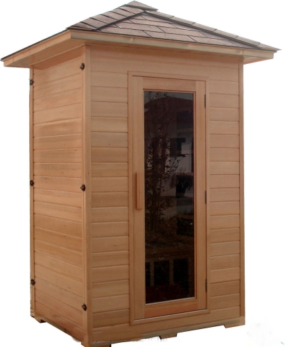 1 2 two person canadian hemlock outdoor fir infrared sauna. Black Bedroom Furniture Sets. Home Design Ideas
