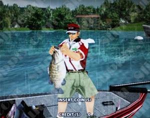Sega bass fishing challenge pedestal arcade for Bass fishing challenge