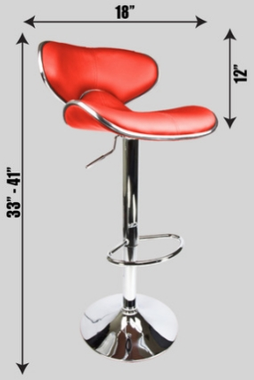 4 swivel red elegant pu leather modern adjustable for 360 the colour bar salon