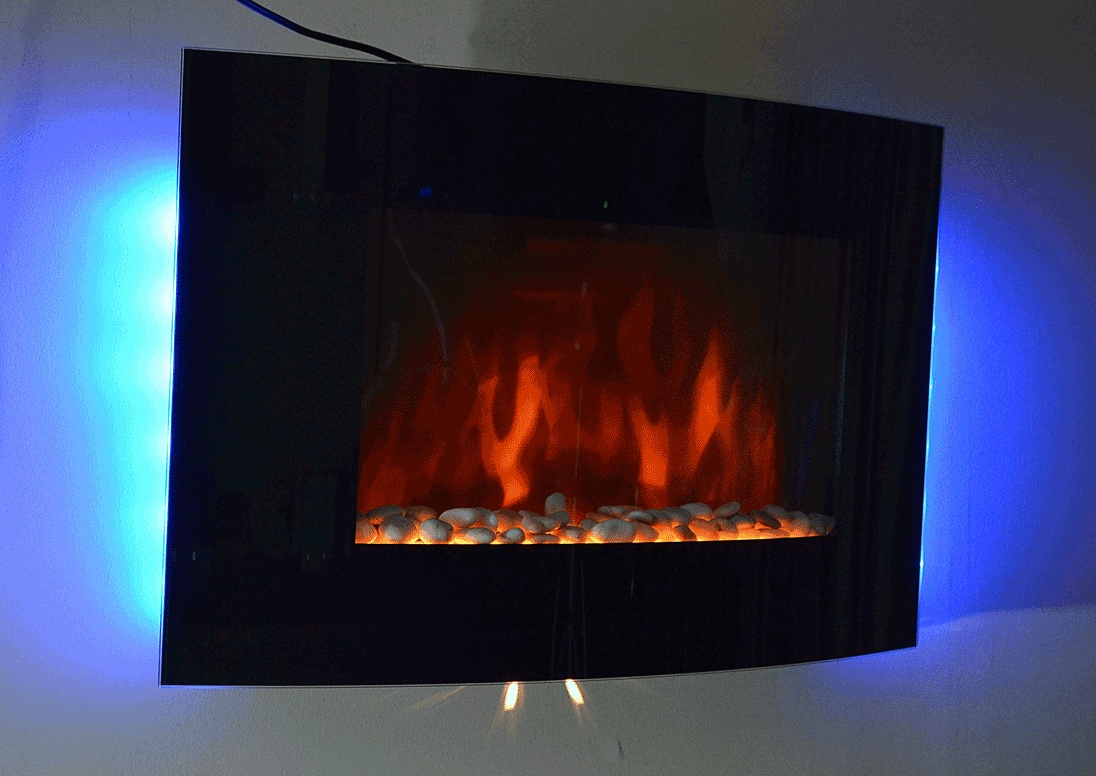 brand new 36 inch tempered glass panel electric fireplace