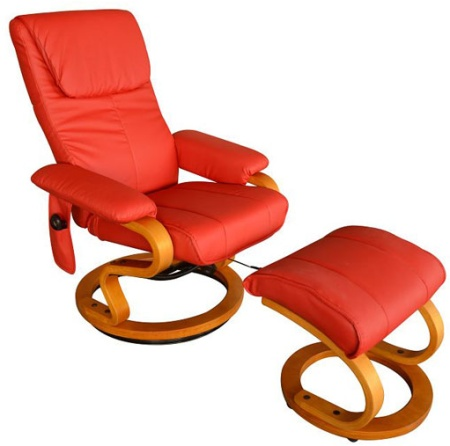 Leather PU TV recliner heated Vibrating Massage Chair W