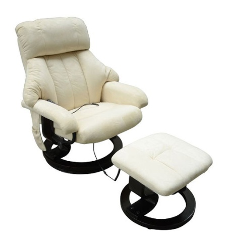 office heated recliner vibrating massage chair w ottoman
