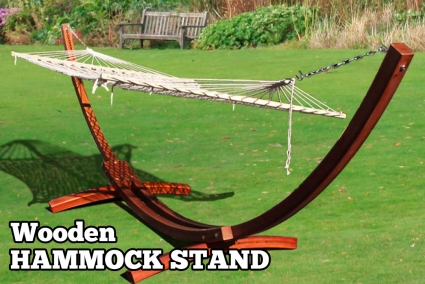 high quality cypress wooden curved roman arch hammock stand wdouble wide hammock