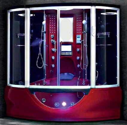 Brand New Red Steam Shower Whirlpool Bathtub With Massage