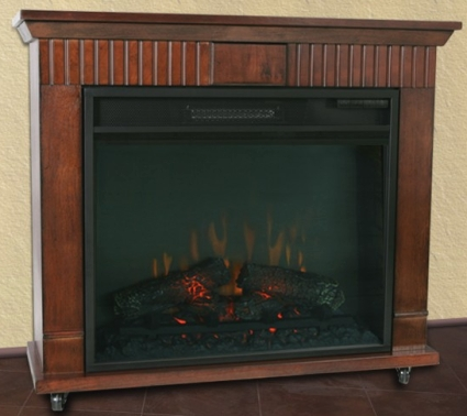 High Quality Cherry Finish Electric Fireplace Heater
