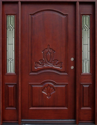 Solid Wood Mahogany Double Arch Without Glass With Sidelights Exterior Pre-Hung Door & Solid Wood Mahogany Double Arch Without Glass With Sidelights ... Pezcame.Com