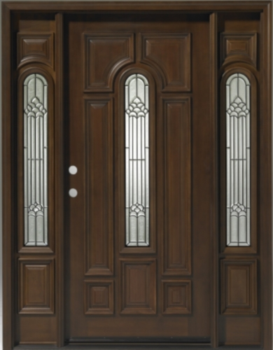 ... wood teak center arch with sidelights exterior pre hung door wood