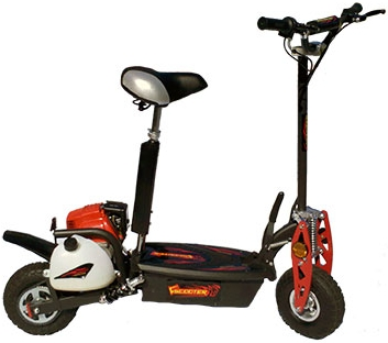 Motorized scooter 4 stroke 49cc gas motor scooter for Gas powered motorized scooter