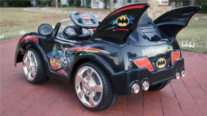 brand new batmobile power wheel racer w remote control