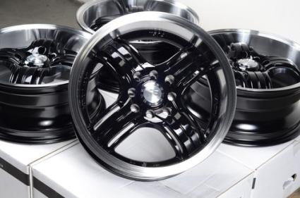 15 inch black automotive rims 15 wheels set of 4. Black Bedroom Furniture Sets. Home Design Ideas