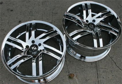 how to clean chrome plated rims