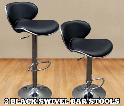 High Quality Adjustable Height Faux Leather Bar Stools