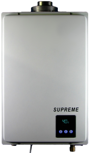 Supreme gas indoor tankless water heater 3 4 bathrooms for 3 bathroom tankless water heater