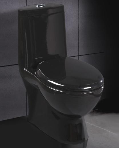Black Ariel Contemporary European Toilet With Dual Flush