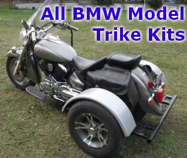 Motorcycle trike kit fits bmw models this do it yourself motorcycle trike kit allows you to convert your motorcycle into a trike it is fully adjustable to the width height and length solutioingenieria Choice Image