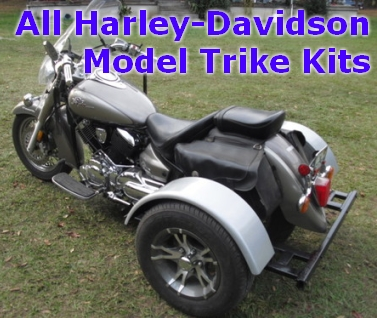 Harley davidson motorcycle trike kit fits all models this do it yourself motorcycle trike kit allows you to convert your motorcycle into a trike it is fully adjustable to the width height and length solutioingenieria Images