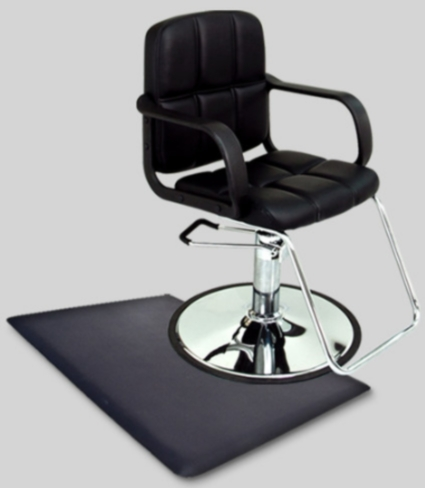 Barber Mats : ... Modern Hydraulic Barber Chair With Anti Fatigue Comfort Floor Mat