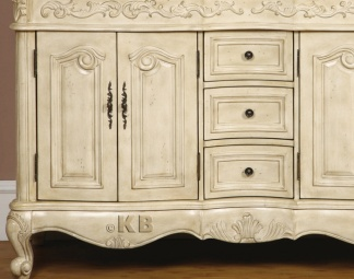 high quality 58 bathroom vanity cabinet with marble top double sink