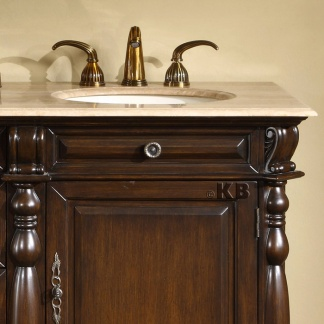 High Quality 72 Bathroom Double Vanity With Travertine Top Double