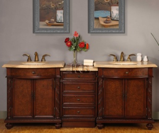 high quality 84 bathroom vanity cabinet with travertine