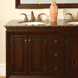 High Quality 55 Bathroom Double Vanity With Granite Top Double Sink