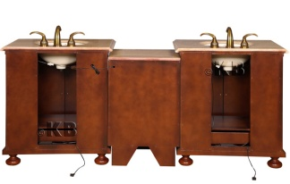 High Quality 82 5 Bathroom Double Vanity With Double Sink And Travertin