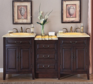 high quality 72 bathroom vanity cabinet with honey onyx