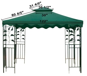 Gazebo Replacement Canopy Top Cover, Replacement Canopy Covers for