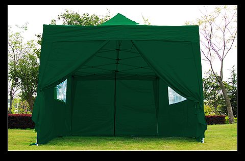 10x15 Green Easy Set Pop Up Party Tent Canopy Gazebo