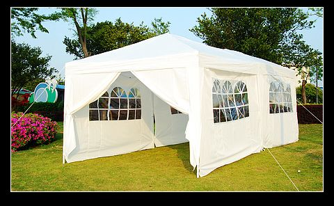 & 10x20 White Easy Set Pop Up Party Tent Canopy Gazebo