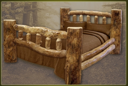 Brand New Classic Rustic Furniture Log Bed