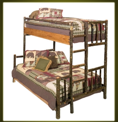 brand new rustic furniture hickory bunk bed. Black Bedroom Furniture Sets. Home Design Ideas