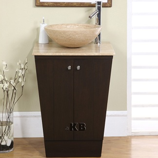 high quality 22 bathroom vanity cabinet with vessel stone sink bowl