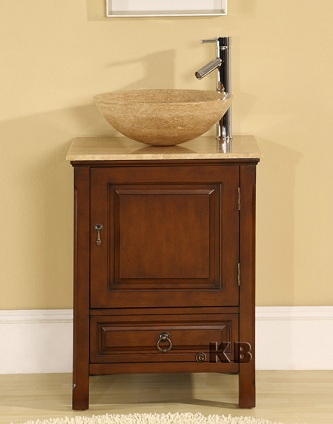 Bathroom Vessel Sinks on High Quality 22  Bathroom Vanity Cabinet With Vessel Sink