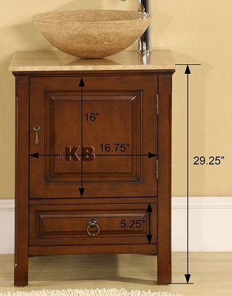 High Quality 22 Bathroom Vanity Cabinet With Vessel Sink