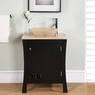 Small Bathroom Vanities on High Quality 26  Espresso Bathroom Vanity Cabinet With Roman Vein Cut