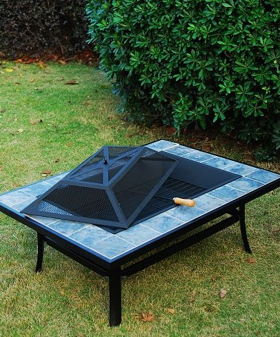 High Quality Metal Fire Pit With Cover L2115