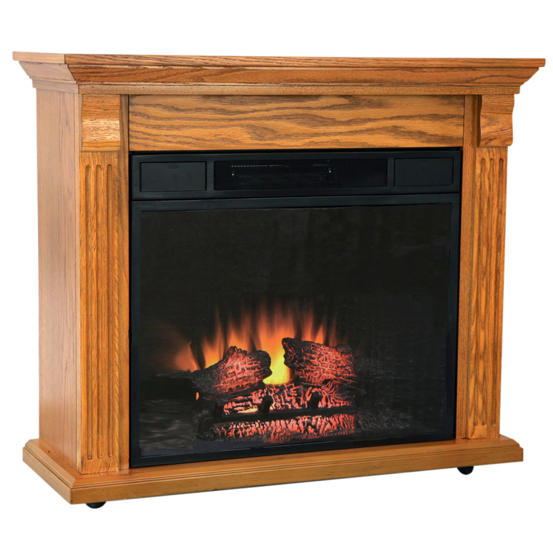 electric fireplace 1400 heater oak