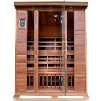 Sequoia 4 Person FAR Infrared Cedar Sauna with 10 Carbon Nano Heaters