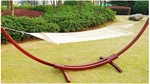 Cotton Hammock with Wooden Stand