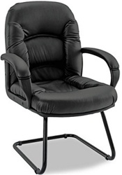 High Quality Black Leather Nico Guest Chair